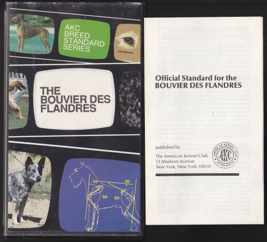 Image for The Bouvier Des Flandres AKC Breed Standard Series VHS TAPE
